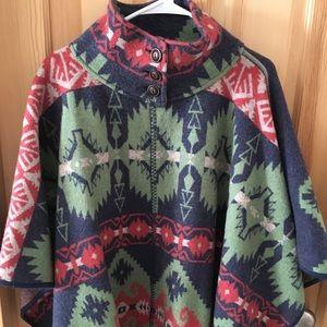 Ralph Lauren wool poncho